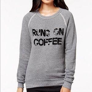 Bow & Drape Runs On Coffee Sweatshirt